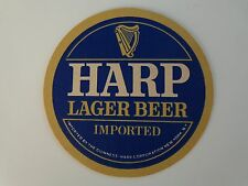 Collectible Beer Coaster <*> GUINNESS Brewing Co Harp Lager Beer ~ Tegistologist