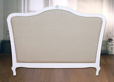Bed Head French Provincial with Linen King Size Headboard Upholstered