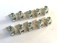 2 AWG Gauge Wire LUG w/mount Joiner Coupler Terminal Block Barrel  10 pack