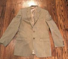 Handsome Ralph Lauren Men's Silk/Wool 2 Button Blazer Brown mini plaid sz 40L