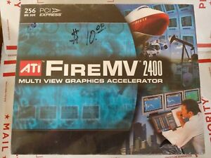 ATI FireMV 2400 256MB PCI Express Video Graphics Card NIP New quad monitor DVI