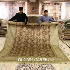 Yilong 8'x10' Big All Over Design Silk Rugs Hand-knotted Carpets Handmade 0939