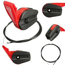 165CM Red Throttle Cable Switch & Lever Control Handle Kit For Most Lawnmowers
