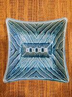Vintage Blue California Pottery? Mid Century Ceramic Textured Ashtray #3695 USA