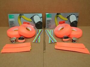 New-Old-Stock Casiraghi Padded Bar Wrap (Neon Peach) w/End Plugs...Two Packages
