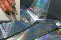 """Silver iridescence"" transfer nail art foil - 1 meter"