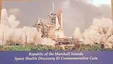 1988 SPACE SHUTTLE DISCOVERY COMMEMORATIVE $5 DOLLAR COIN - MARSHALL ISLANDS  #2