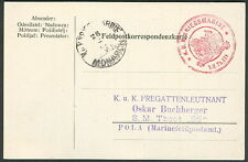 "Hungary Torpedo Boat ""82F"" card, red circular"