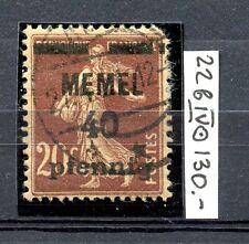 MEMEL 1920 RARE Michel 22bIV Used CV€130.00
