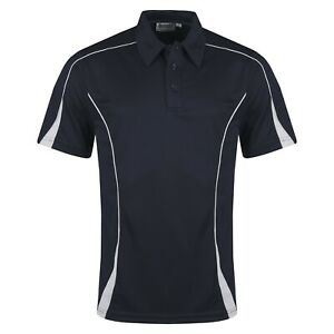 Mens Polo Shirts Breathable Short Sleeve Contrast Sports Anti Bacterial Top