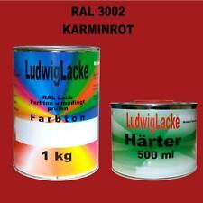 RAL 3002  1,5 kg SET Profi Lack     MATT mit Härter