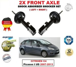 FOR CITROEN C4 Picasso I UD 2007-2013 2X FRONT LEFT RIGHT SHOCK ABSORBERS SET