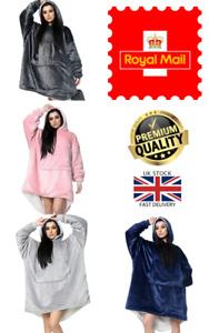New Hooded UK Stock Wearable Blanket Robe Cuddle Snuggle Hoodie Warm Plush Coat