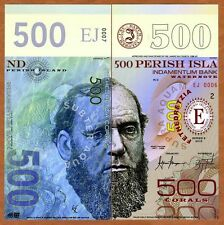 Perish Island (Mujand) 500 Corals 2015 UNC POLYMER Limited Issue Fantasy Note