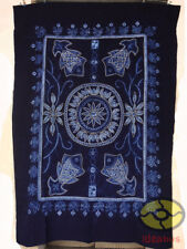 """Handmade Indigo Tie Dye Rural Style Tablecloth Table Cover Tapestry 78""""L x 55""""W"""