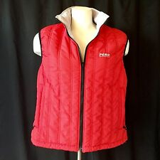 Peak Performance R&D Reversible Quilted outdoor Vest Gilet Red Gray Sz Large EUC
