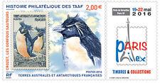 TAAF Frans Antarctica 2016  Parisphilex  Pinguin  zegel op zegel postfris/mnh