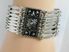 "Strand Tribal Link Bracelet 7 3/4"" Vintage 925 Sterling Hecho Mexico Multi"