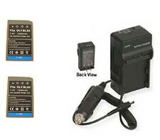 TWO 2X Batteries + Charger for Olympus E-PL5 E-PL6 E-PM2 Stylus 1 OM-D E-M10