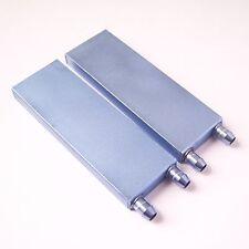 2 Pcs Water Cooling Block Liquid Cooler Aluminum For PC CPU New 122*41*12mm W14