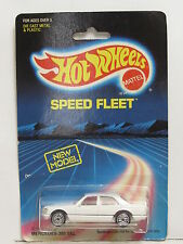 HOT WHEELS 1988  BLUE CARD SPEED FLEET  MERCEDES 380 SEL WHITE