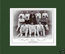 MOUNTED CRICKET TEAM PRINT - GLOUCESTERSHIRE - 1895