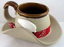 "Cowgirl ""Cowboy Hat Mug"" Western Coffee Chili Soup Salsa Pencil Cup Gift"