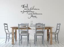 Lord Bless The Food and Family Prayer Kitchen Dining Room Wall Decal Wall Art