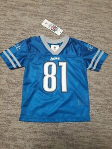 Detroit Lions NFL 81 Johnson Infant Jersey Size 4T New With Tags