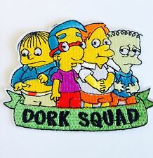 DORK SQUAD . THE SIMPSONS GANG Large Iron On Embroidered Patch .TV CARTOON MOVIE