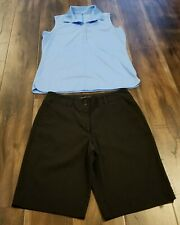 Nike Golf Dri Fit Active Shorts Size 8 And Sleeveless Shirt Large Women'S