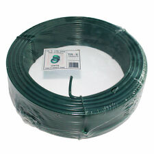 Green PVC Galvanised Steel Tension Straining Line Wire Fencing Chain Link - 52m
