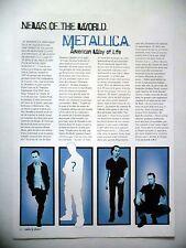 COUPURE DE PRESSE-CLIPPING :  METALLICA  03/2003 Lars Ulrich,Kirk Hammet,Limp...