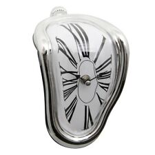Salvador Dali Style Melting Wall Clock Kitchen, Home, Office Silver frame P H5K1