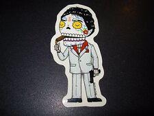 "SCARFACE Tony Montana MUERTO Art Sticker Print 2X4"" DIA DE LOS JOSE PULIDO"