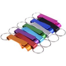 Neuheit Metall Schlüsselanhänger Flaschenöffner silbrig Kette Ring Bar Tool  ML
