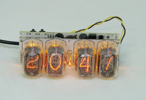 Assembled Nixie clock - in12 tube, yellow backlight