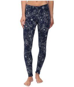 Nike Leg A See Hawaiian II Floral Print Leggings Blue $50 Women's sz S