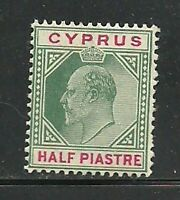 Album Treasures Cyprus Scott # 38  1/2pi  Edward VII Mint Never Hinged