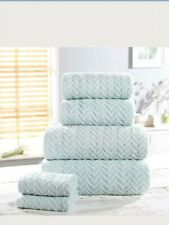 Rapport Heringbone 6pc Towel Set 2 Face, 2 Hand 2 Bath Towels  CHEAPEST ON EBAY