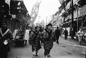 Vintage 1920 s Photograph Japan city street  original negative with rights   988