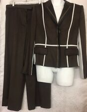 Gianfranco Ferre Pantsuit Brown  With Gray White And Black New Size 48 Us 12-14