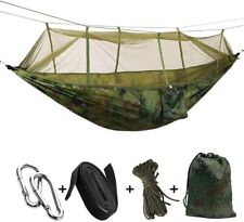 2 Person Camping Garden Hammock With Mosquito Net Outdoor Furniture Bed Strength