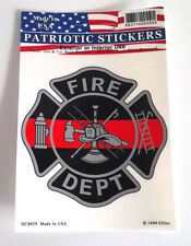 THIN RED LINE FIRE DEPT  Firefighter Window Decal DC0059