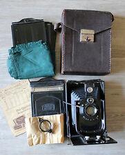 Plattenkamera Zeiss Ikon Taxo 64 mit Tasche, 5 Kasetten, Zubehör