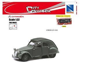 New Ray Modellino Auto Citroen 2 CV 1952 Scala 1:32 Citroen 2 Cavalli Die Cast
