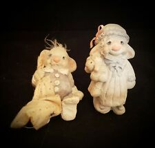 2 Dreamsicles Animal Figures Mouse/Blanket, Bunny/Lamb 》