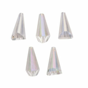 10 Teardrop Glass Crystal Loose Beads Jewelry Making Spacer Findings 10x20mm