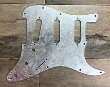 Pickguard Fender Stratocaster style SILVER LEAF scratchplate SSS battipenna