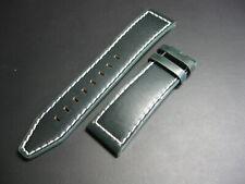 22 mm Invicta Green Genuine Leather Watch Strap Contrast Stitch! band belt